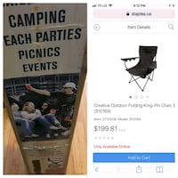 Large creative camping chair Mississauga, L5B