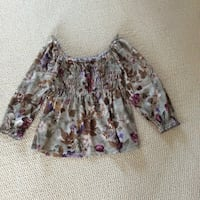 Gray and brown floral blouse Nashua, 03060