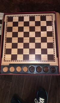 Wooden checker board