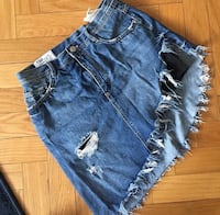 blå denim distressed korte shorts Oslo, 0267
