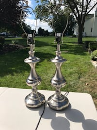 two stainless steel table lamps Calverton, 11933