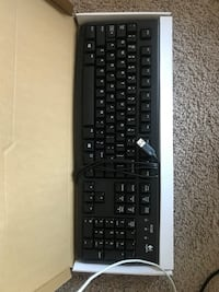 black and gray corded computer keyboard Arlington, 22202