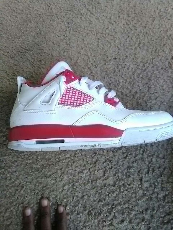787dad777435 Used unpaired white-and-red air jordan 4 for sale in San Leandro - letgo
