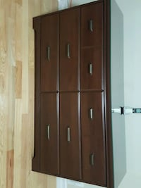 brown wooden cabinet with mirror Oshawa, L1K 2R8