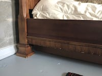 Brown wooden bed frame-king size Fort Lauderdale, 33301