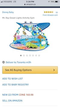 blue and white Fisher-Price bouncer Toronto, M6R 1X1