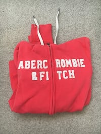 small red Abercrombie & Fitch hoodie  Kitchener, N2M 3N6