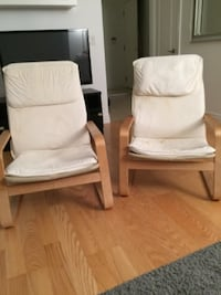 Two ikea chairs +throws Toronto
