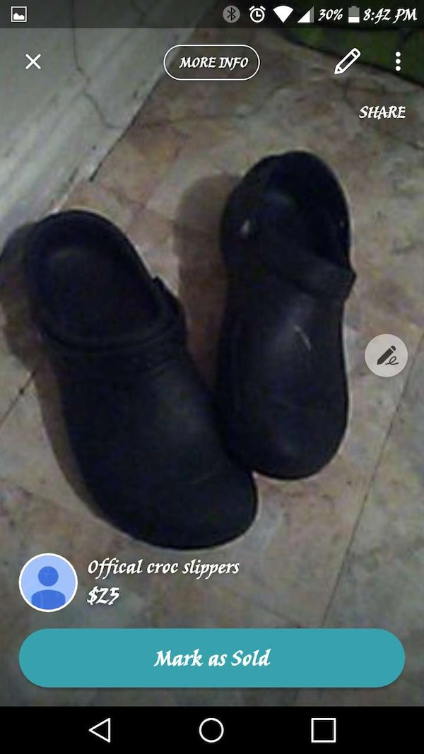 3dcbc9caa62b Used black crocs rubber clogs for sale in New York - letgo