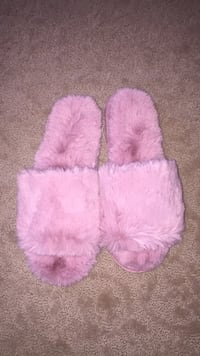 Fuzzy rose gold/ pink slippers St Albert, T8N 7H2