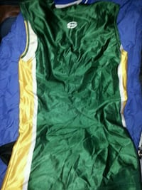 green and yellow basketball jersey Surrey, V3S 2T3