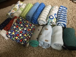 Baby burp cloth lot, maybe used1-2 if that