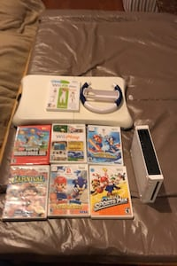 Used games and great working consle and a wii fit for a good price