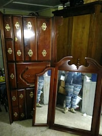 brown wooden cabinet with mirror Jacksonville, 32209