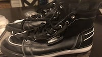 pair of black leather shoes 1204 mi