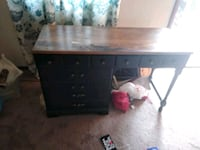 brown and black wooden pedestal desk Latrobe, 15650