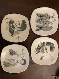 4 Collector Elvis plates Snack size- no chips Downey, 90241
