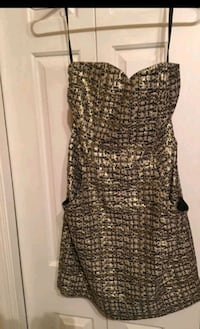 Strapless gold and black dress Burke, 22015