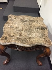 Amazing Large Square brown marble granite-top coffee table