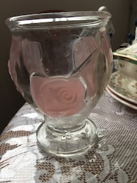 Crystal cut glass vase Belleville, K8P
