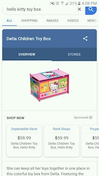 Hello kitty toddler bed and toy box Wilkes-Barre, 18702
