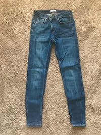 Zara blue denim pants