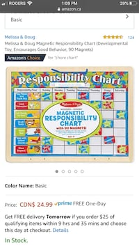 Melissa and Doug responsibility chart