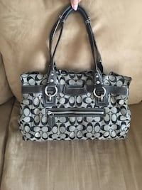 black and gray Coach leather tote bag Las Vegas, 89148