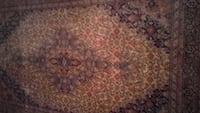 brown and red floral area rug Burke, 22015