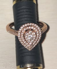 Rose Gold Pear Shape Engagement Falls Church, 22042