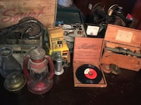 Antique tools, vacuum tube equipment, Geiger counter, sewing machines, lamps, silverware, records too much to list. Please contact me to arrange a look see   Ingleside, 60041