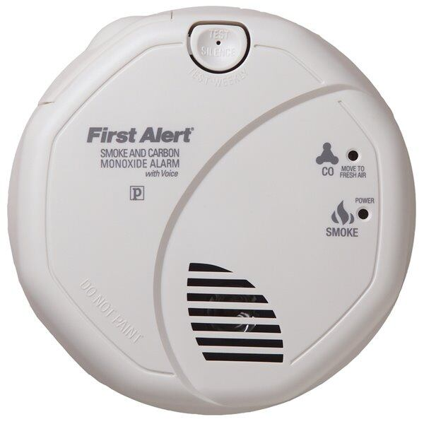 First Alert Hardwired Combination Smoke and CO Alarm with Battery Back