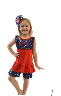 Kids 2 piece top and Ruffle bottoms (New) size 5/6 Huntington, 25705