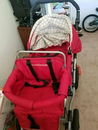 baby's red and black stroller Newport News, 23608