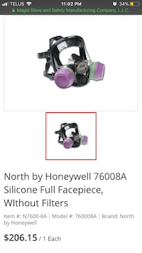 Full face mask by Honeywell