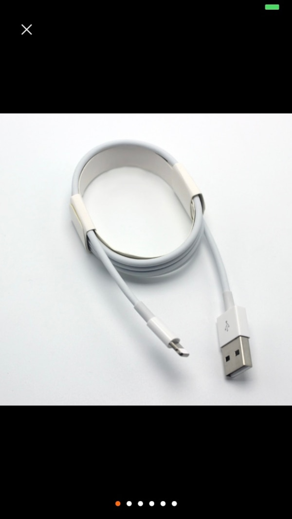 white USB to micro USB cable