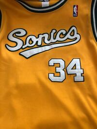 Yellow and green Sonics Ray Allen jersey rare jersey one of the greatest players of all time  Waldorf, 20601