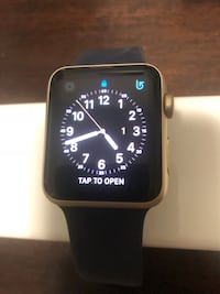 Apple watch -rose gold case with black sport band New York, 11209