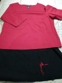 Women's Skirt and Top Coordinate