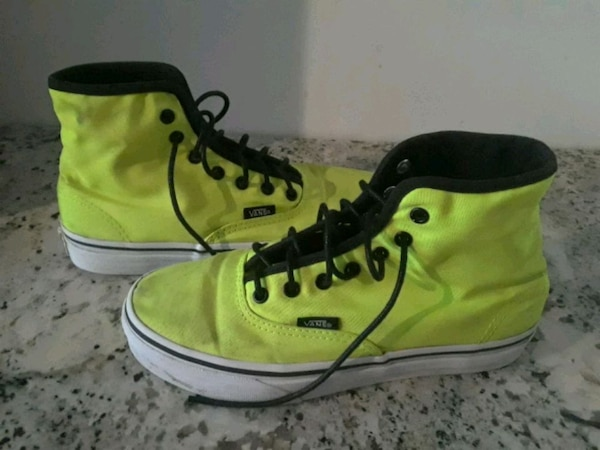 Used Neon green hightop Vans for sale in Toronto - letgo 943ee4b9d