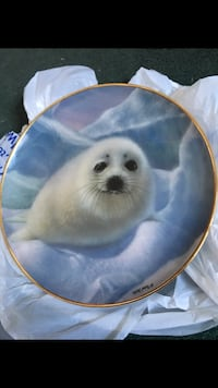 """""""Snow Pup"""" Franklin Mint Heirloom Plate Limited Edition  Holmes, 19043"""