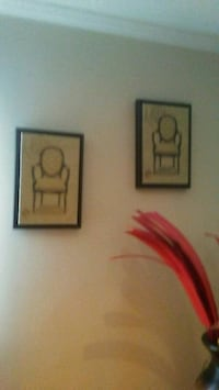 two red and white wall decors 232 mi