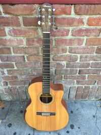 Used Ventura Electric Acoustic Guitar V59nat Very Nice Shape A Few