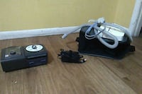 black and gray corded power tool null