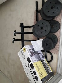 weight plate lot with box