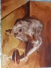 Painting of Aardvark sipping wine New Tecumseth, L0G 1A0