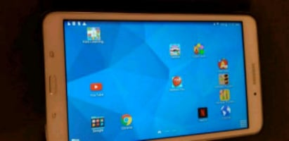 white Samsung Galaxy tablet 2
