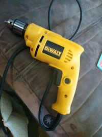 yellow and black DeWalt corded power drill Leduc, T9E 0M9