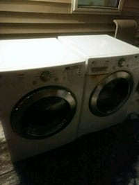white front-load clothes washer and dryer set Washington, 20032
