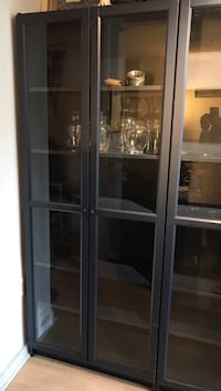 2 x Ikea Billy Book Cases in Blue + Glass Doors Washington, 20036